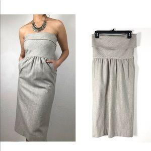 Kenzo France made 100% wool tube top dress midi